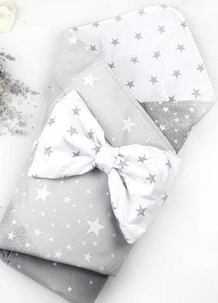 Конверт на выписку летний для новорожденных для мальчика
