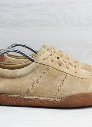 Мужские кожаные кроссовки clarks originals, размер 43
