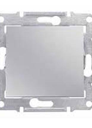 Выключатель 1-клавишный, алюминий, титан, графит Sedna Schneider
