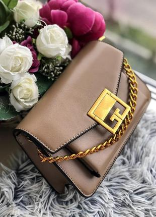 Женская сумка коричневого цвета, из эко кожи