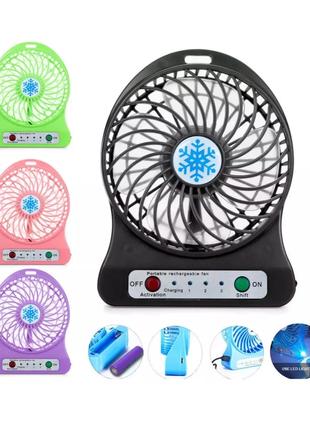 Мини вентилятор на аккумуляторе и от usb