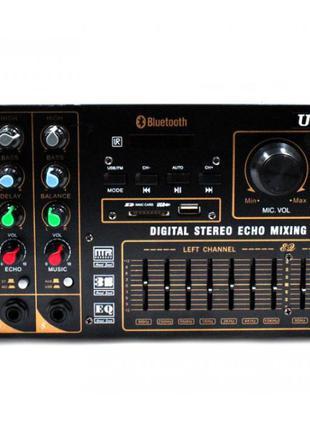 Профессиональный усилитель звука UKC AV-767BT 4 канала FM SD USB