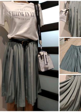 Стильная юбка шорты мини плиссеровка