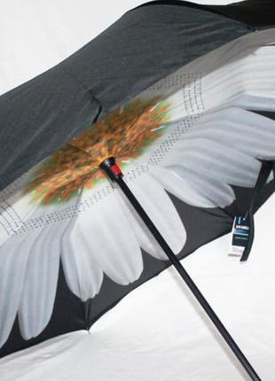 Зонт обратного сложения up brella ромашка белая