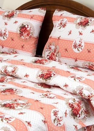 Постельное белье lotus ranforce - vintage коралл двуспальное
