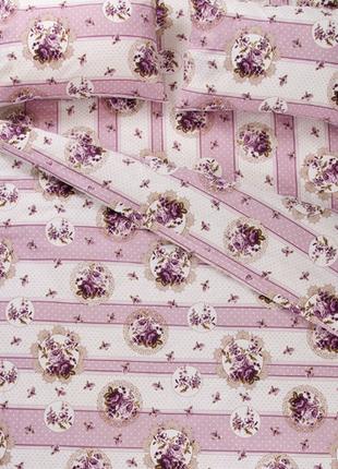 Постельное белье lotus ranforce - vintage лиловый двуспальное
