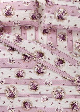 Постельное белье lotus ranforce - vintage лиловое евро