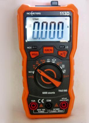 Мультиметр, ударопрочный RICHMETERS RM113D НТС с МАГНИТОМ!