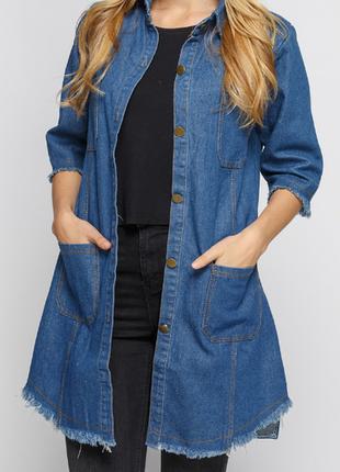 Джинсовая женская куртка 7655