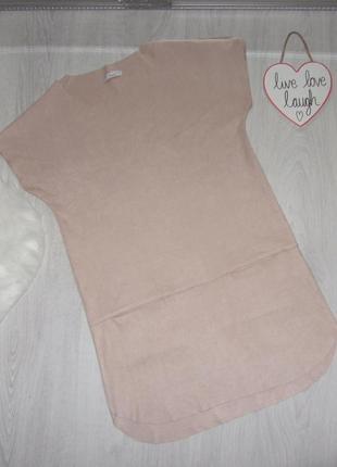 Замшевое платье свободного прямого кроя,платье-футболка