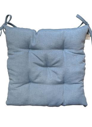 Подушка на стілець 40х40 Ретро Синя