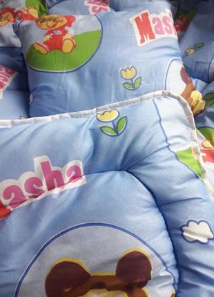 Детское одеяло овечья шерсть подушка 110х140 хлопок100%