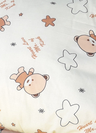 Детское одеяло овечья шерсть+ подушка 110х140 хлопок100%