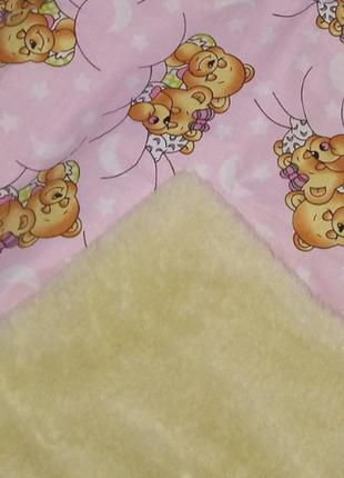 Детское одеяло с мехом и овечей шерстью(разные цвета)