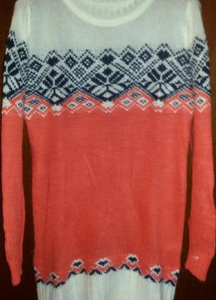 Женский зимний длинный свитер , туника, турция