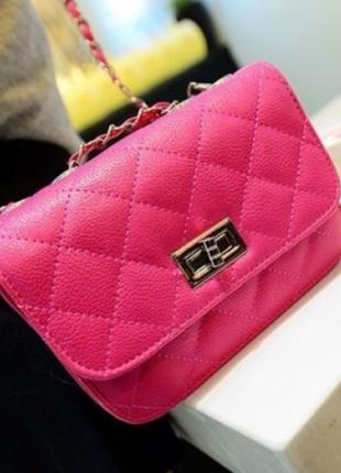 Женская сумка  сумочка клатч на цепочке   6730ал