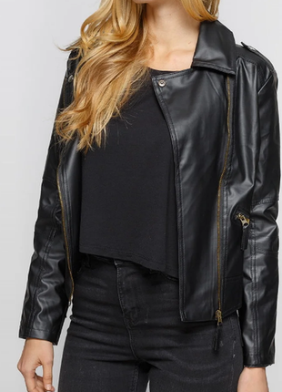 Женская куртка-косуха экокожа 8451ал