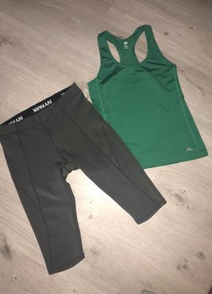 Бриджи для фитнеса. бриджи для бега с подкладкой - шорты разме...