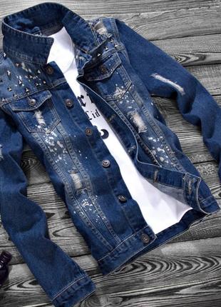 Мужская джинсовая куртка 8602ал