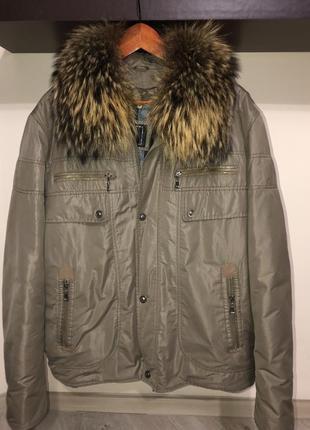 Стильная, зимняя мужская куртка пуховик р 52-54