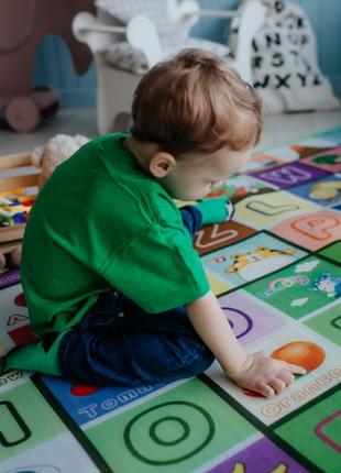 Детский коврик для игр азбука 1.0 х1.8