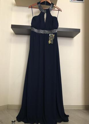 Шикарное длинное вечернее платье. платье на выпускной. нарядно...
