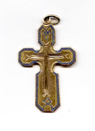 Продам Золотой Православный крестик 1867г. золото проба 56