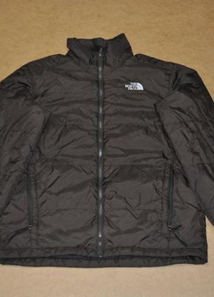 The north face куртка пуховичек мужской коричневый