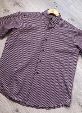 Мужская рубашка без рукавов. рубашка в клетку. рубашка с корот...
