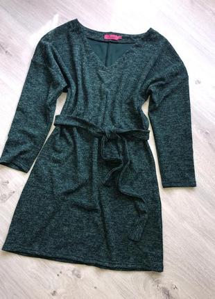 Очень красивое платье бутылка  ангора софт, платье с поясом тр...