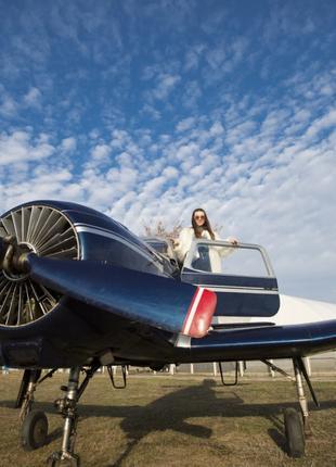 Полет на самолете с передачей управления