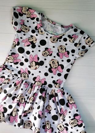 Платье с принтом Минни Маус уценка