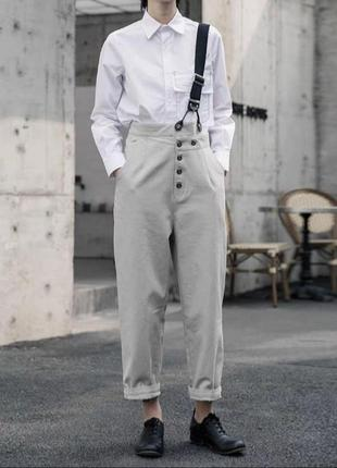 Укороченные штаны с подтяжкой