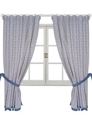 Комплект штор 170х136 Ретро з синім