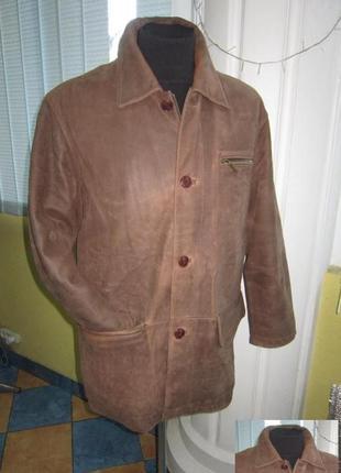 Большая утепленная кожаная мужская куртка milestone. германия....
