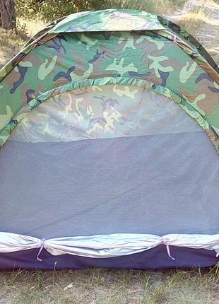 """Палатка летняя двухместная туристическая """"Хаки"""" 200x150x110"""