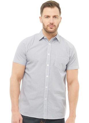 Рубашка сорочка в полоску с короткими рукавами от f&f