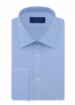 Рубашка сорочка классическая под запонки 100% хлопок от hildit...