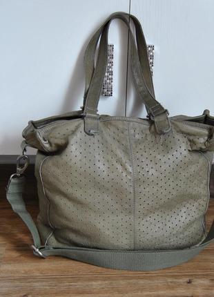 Кожаная сумка cowboysbag шоппер мешок / шкіряна сумка