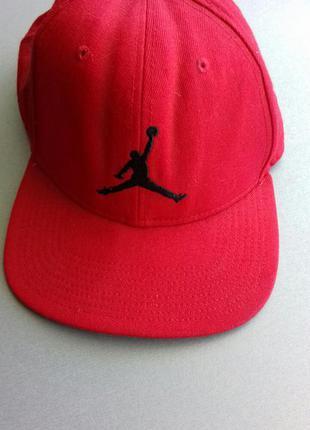 Бейсболка nike air jordan jumpman snapback red  без регулировки