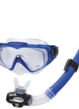 Набор маска и трубка для подводного плаванья Интекс/Intex 55962
