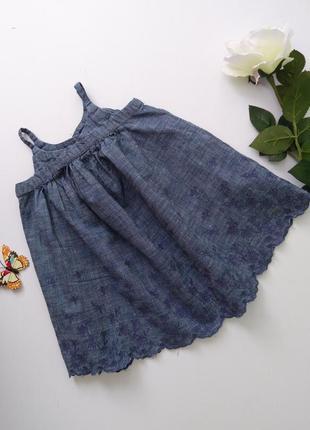 Джинсовое платье сарафан 6-12мес gap
