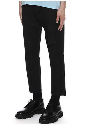 Костюмные брюки h&m, slim fit cropped !