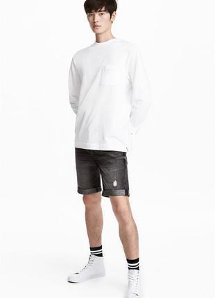 Джинсовые шорты h&m, slim fit !