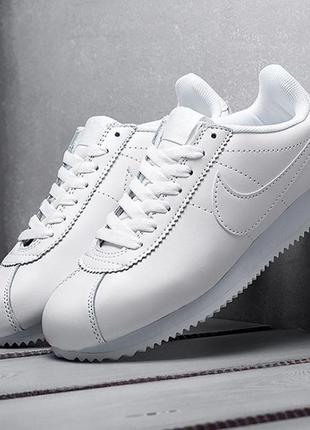 440тр Nike Cortez Classic Leather White кроссовки мужские найк