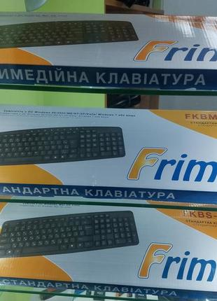Клавиатура Frime FKBS-002 USB RUS_UKR, Black новая
