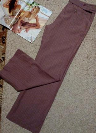 Paul berman актуальные льняные брюки в полоску