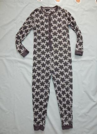 Слип пижама человечек трикотажная на мальчика 9-10 лет 140-146 см
