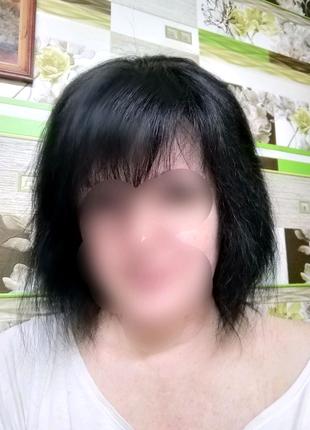 Парик,волосы натуральные.