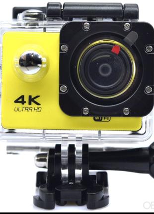 Экшн камера 4K wi-fi +Пульт Видеорегистратор+ Аквабокс +крепления